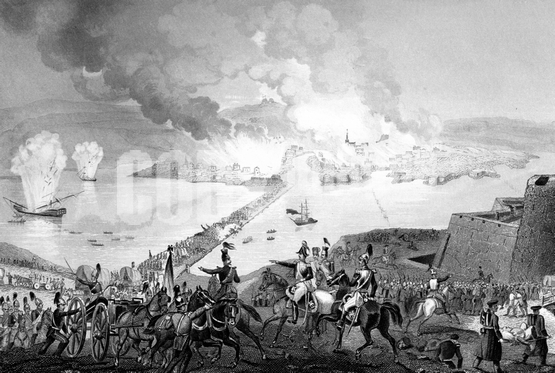 War - Crimean 1853 - 56 -  The Russian retreat at south side
