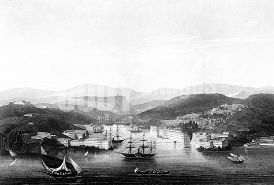 War - Crimean 1853 - 56 - Sevastapol Harbour 